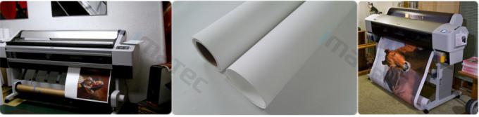 300D x 600D Polyester Canvas Rolls / Matte Polyester Print Fabric For Pigment Ink