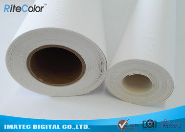ประเทศจีน 410Gsm Inkjet Cotton Canvas Roll , 20Mil Inkjet Printable Canvas Good Ink Absorbable ผู้ผลิต