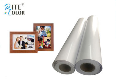 White Resin Coated Photo Paper , Wide Format Inkjet 240Gsm Photo Luster Paper