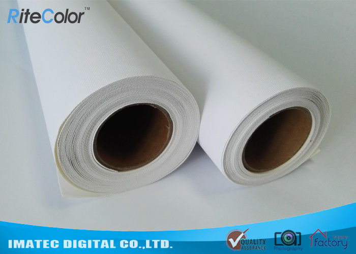 Poly - Cotton Blend Inkjet Cotton Canvas , Waterproof Canvas Printer Paper