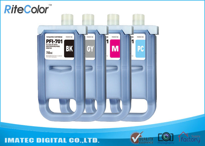 Large Format Inks 700Ml Compatible Ink Cartridges For Canon iPF8000 / 8000S ผู้ผลิต