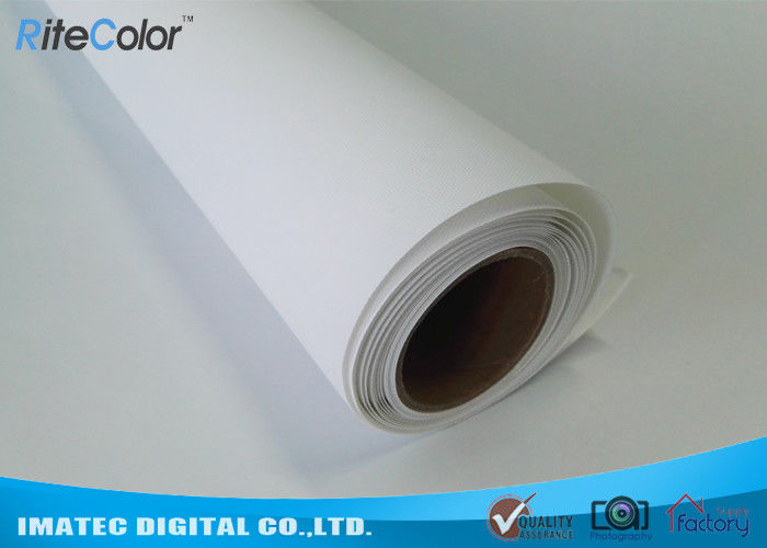 300D x 600D Polyester Canvas Rolls / Matte Polyester Print Fabric For Pigment Ink ผู้ผลิต