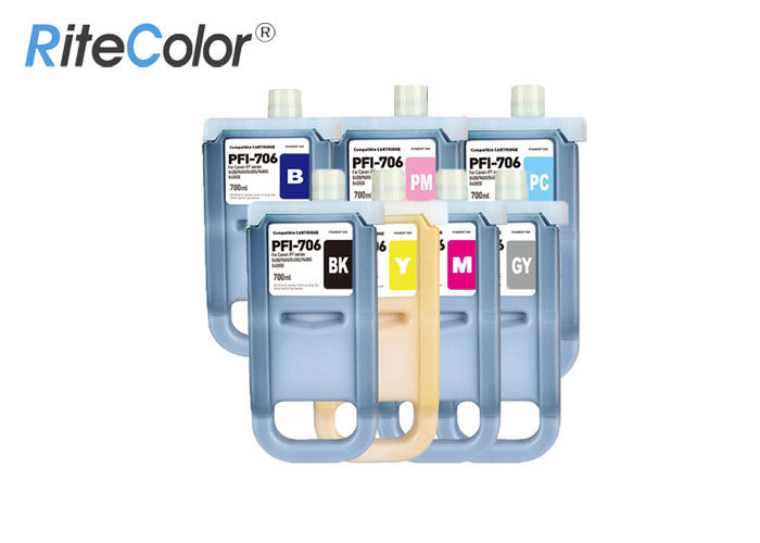 Canon IPF Printer Large Format Ink 700ML Compatible / Refilled PFI 706 Inkjet Ink Cartridge