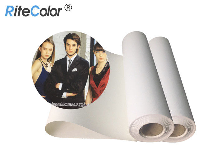 30 Meters Length Inkjet Cotton Canvas 360gsm Matte Finish Pigment Dye Ink Printing