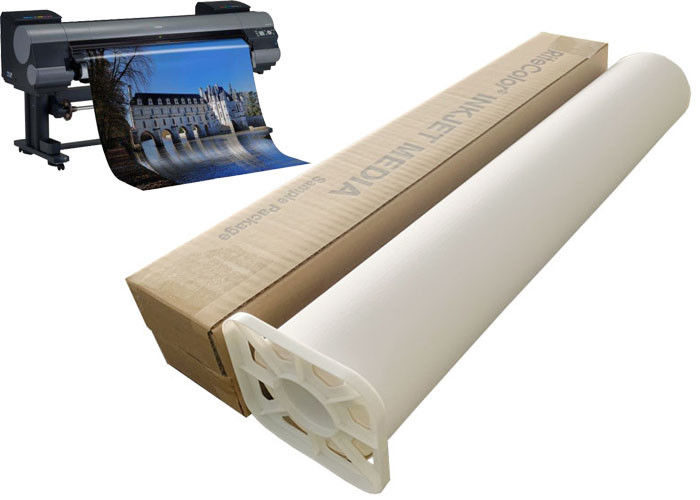 "220gsm Inkjet Stretched Polyester Canvas Roll 24"" 60"" For Printer Plotter"