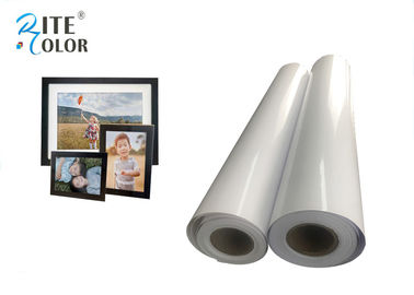 ประเทศจีน Resin Coated Eco Solvent Media 240gsm Glossy Photographic Paper Inkjet Photo Roll โรงงาน